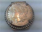 1881 MORGAN SILVER DOLLAR MONEY CLIP 90% SILVER COIN SET IN STAINLESS NICKEL